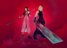 Aerith and Cloud by Dragunova-Cosplay