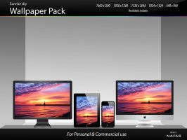 Wallpaper pack1- Sunrise sky by inafas