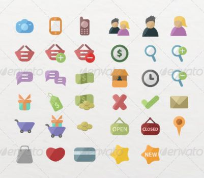 35 Ecommerce Icons by etnocad