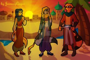 Sibling Thieves in Time - Ancient Arabia by JennissyCooper