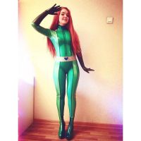 Sam Totally Spies latex cosplay by PolliGulina