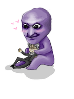 Hiroshi Receiving Much Lubs from Ao Oni by Gemini-Astrae
