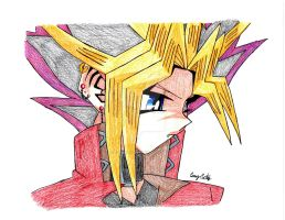 Sad Vamp Yami Yugi colored by xMystery21x