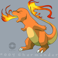 004: Charmander by pokehasu