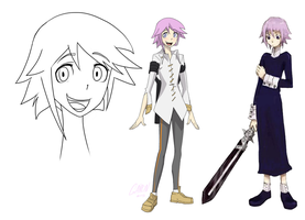 Post-Anime Crona Model Sheet by Gairon