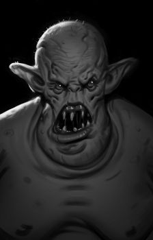 Sketch - Fat Troll by Thorsten-Denk