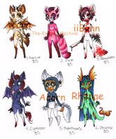 5 Dollar Adoptables 1st Litter CLOSED by AshenAdoptables