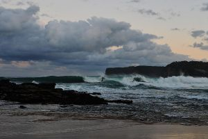 Evening waves - North Avoca 1 by wildplaces