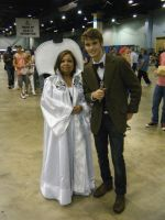 Chicago ComicCon 2014 - 11th Doctor And Sergasity by InsaneSpyro