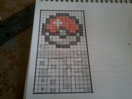 Pokeball pixel art by flamesofawesomeness
