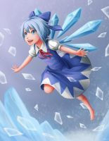 Cirno, the Strongest by Sleepingfox