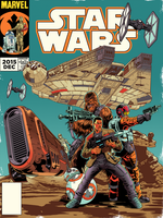 Vintage Star Wars Cover TFA Issue 0 by DazTibbles