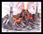 Urborg Volcano by The-Necromancer