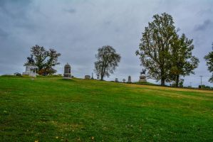 Gettysburg Battlefield, Monuments, and trees by ENT2PRI9SE