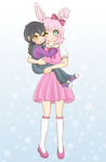 Xero and Zinnia (commission) by Pastel-Hime