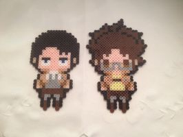 Levi and Hanji by sweet-misery788