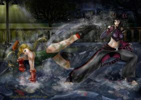 Cammy vs Juri by CloudsDevourer