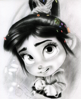 Vanellope - Ya think I got a chance? by artistsncoffeeshops