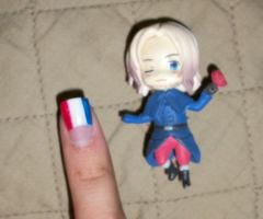 Hetalia nails 2 France II by Ale-L