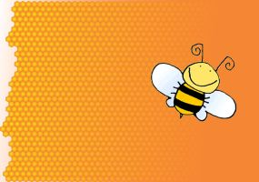 Bee Honey Wallpaper by patomite