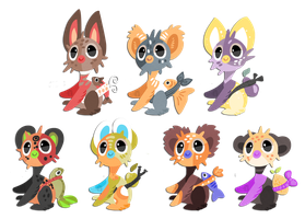 19-25Puff 8D Puffshimi set price adoptables! SOLD by griffsnuff