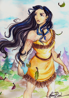 Pocahontas by Curly-Qs