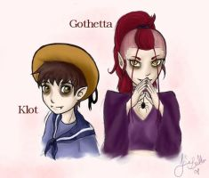 Gothetta and Klot by Knorke-chan