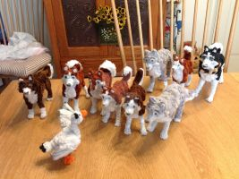 Balto family from Universal/Amblin films OOAK by Lupineleigh
