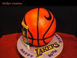 Lakers Cake by hotkist
