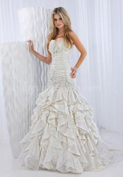Taffeta With Lace Mermaid Sweetheart Ruffles Embro by dressfashion