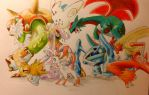 My Pokemon X team by DelEerious