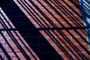 Red Bricks And Shadows by PamplemousseCeil