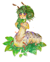 caterpillar child by SeafaringSarah