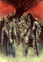 Zombie Horde by PeterSiedlArt