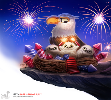 Daily Painting 1687# Happy 4th of July! by Cryptid-Creations