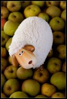 Sheep On Apples by slaute