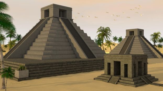 Temple maya by Nuclear-Pixel