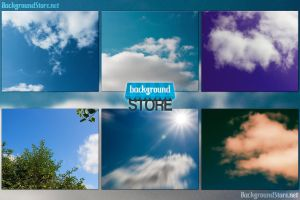Sky Texture Backgrounds Bundle by BackgroundStore