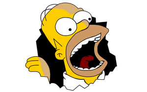 Homer omnomnom vector by Zoiby