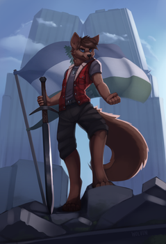 Flag [Commission] by ItsWolven