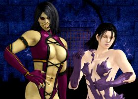 Mileena and Unknown :) by WhiteDevil350