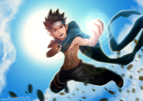 Shirtless Ninja: Sarutobi Konohamaru by greggileano
