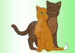 Brambleclaw and Squirrelflight by MiaMaha