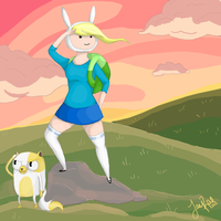 Adventure Time - Fionna and Cake by TheMoonfall