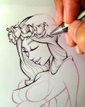 Inking this Beauty  by gelipe