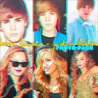 Demi Lovato y Justin Bieber Photo Pack. by NachaEditions