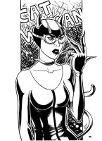 CatWoman ink by GloriaScott