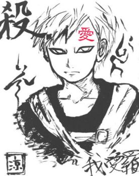 gaara the dude with sand by crowofwonka