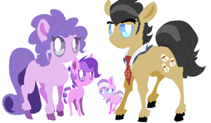 :HC:diamond tiara and sparkler family by angelstar000