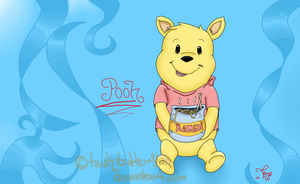 Winnie The Pooh by TsukiButterflah